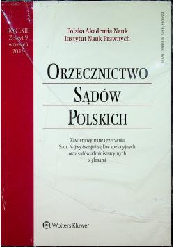 Orzecznictwo Sądów Polskich Rok LXIII Zeszyt 9 Nowa