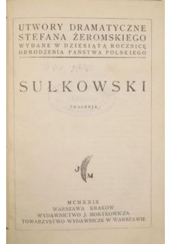 Sułkowski 1929 r.