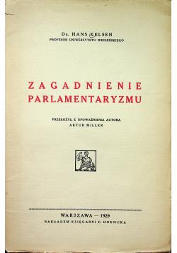 Zagadnienie parlamentaryzmu 1929r