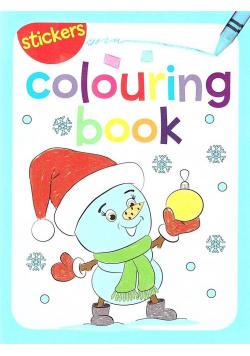 Colouring book z naklejkami. Zima