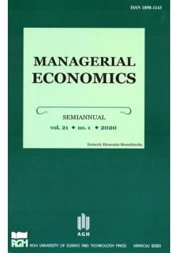 Managerial Economics 21/1