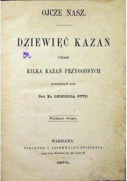Dziewięć kazań 1870 r.
