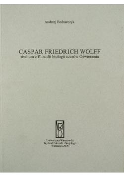 Caspar Friedrich Wolff studium z filozofii biologii czasów Oświecenia