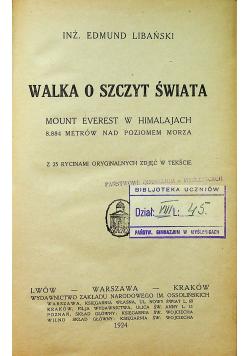 Walka o szczyt świata 1924 r