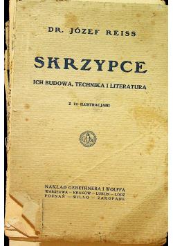 Skrzypce ich budowa technika i literatura 1924 r