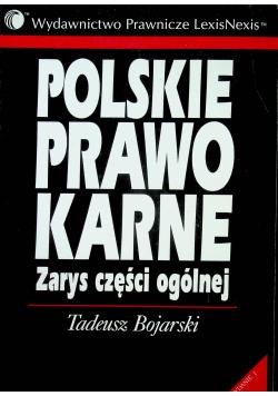 Polskie prawo karne zarys części ogólnej