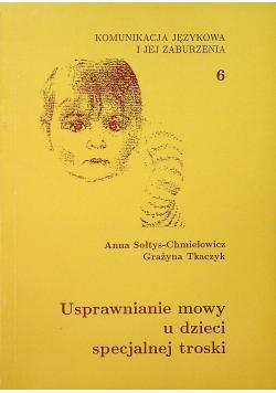 Usprawnianie mowy u dzieci specjalnej troski