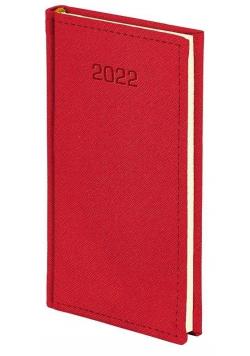 Kalendarz 2022 A6 tygodniowy Cross czerwony