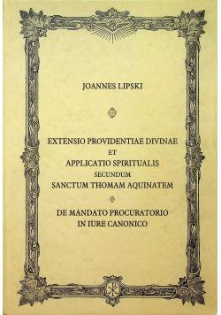 Extensio Providentiae Divinae et Applicatio Spiritualis Reprint 1957 r