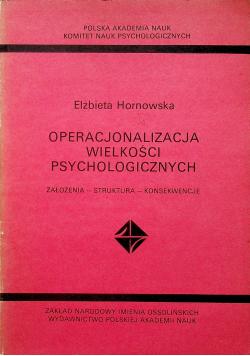 Operacjonalizacja wielkości psychologicznych