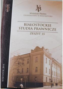 Białostockie studia prawnicze zeszyt 16