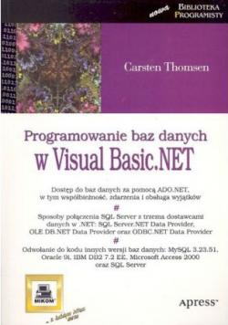 Programowanie baz danych w Visual Basic NET