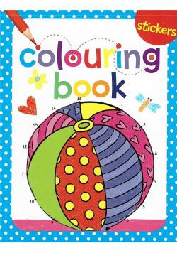 Colouring book z naklejkami. Piłka
