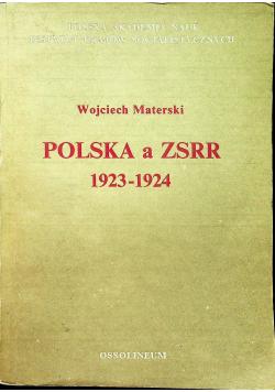 Polska a ZSRR 1923 1924