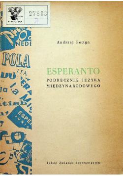 Esperanto Podręcznik języka międzynarodowego