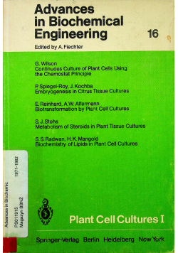 Advances in Biochemical Engineering