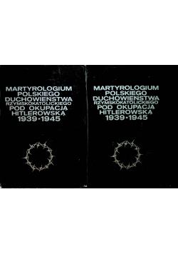Martyrologium polskiego duchowieństwa rzymskokatolickiego pod okupacją hitlerowską 1939 - 1945 2 tomy