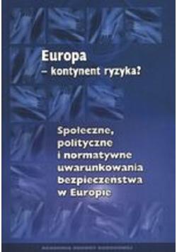 Europa kontynent ryzyka