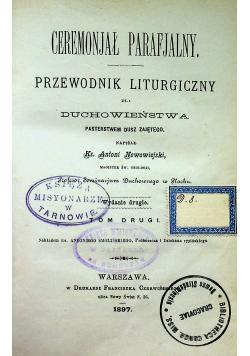 Ceremonjał parafjalny tom II 1897r