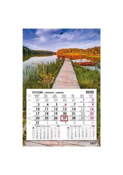 Kalendarz 2022 jednodzielny główka płaska Kaszuby