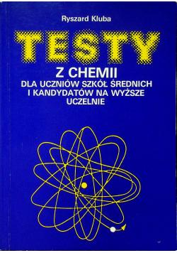 Testy z chemii dla uczniów szkół średnich i kandydatów na wyższe uczelnie