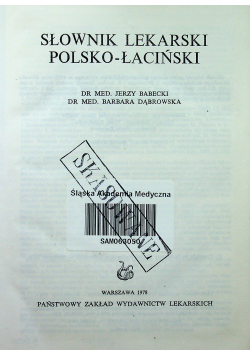 Słownik lekarski polsko łaciński