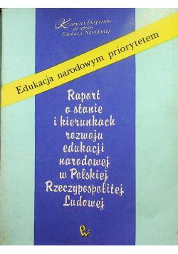 Raport o stanie i kierunkach rozwoju edukacji narodowej w Polskiej Rzeczpospolitej Ludowej