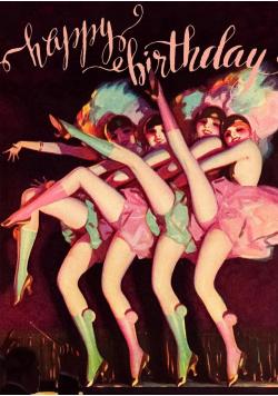 Karnet B6 z kopertą Urodziny Burleska