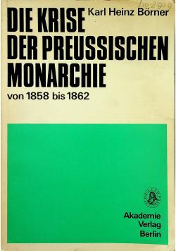 Die Krise der Preussischen Monarchie
