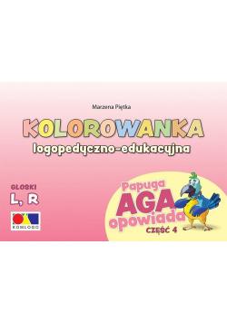 Kolorowanka Papuga Aga opowiada cz.4 - L, R