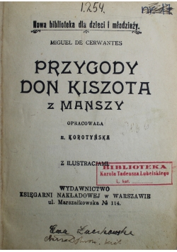 Przygody Don Kiszota z Manszy 1930 r.