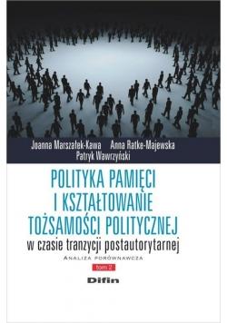 Polityka pamięci i kształtowanie tożsamości politycznej