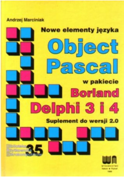 Object Pascal w pakiecie Borland Delphi 3 i 4