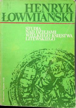 Studia nad dziejami Wielkiego Księstwa Litewskiego