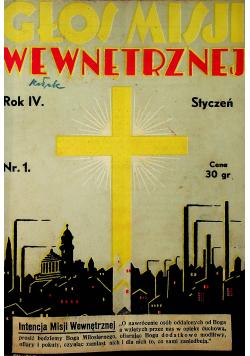 Głos Misji wewnętrznej rok IV 12 numerów 1935 r.
