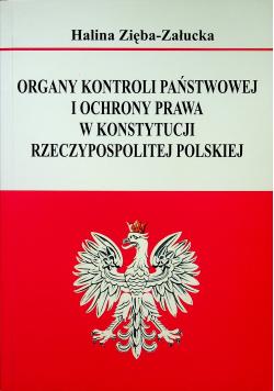 Organy kontroli państwowej i ochrony prawa w konstytucji Rzeczypospolitej Polskiej
