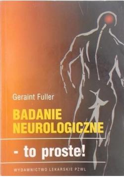 Badania neurologiczne to proste