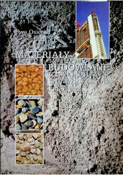 Materiały Budowlane spoiwa mineralne kruszywa
