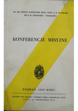 Konferencje Misyjne 1938 r.