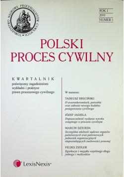 Polski proces cywilny rok I numer 1
