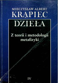 Krąpiec Dzieła Z teorii i metodologii metafizyki