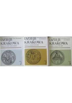 Dzieje Krakowa 3 tomy