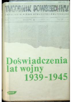 Doświadczenia lat wojny 1939 - 1945