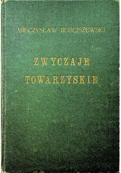 Zwyczaje towarzyskie 1928 r.