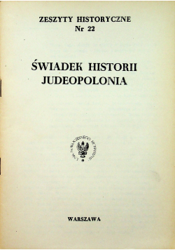 Świadek historii Judeopolonia nr 22