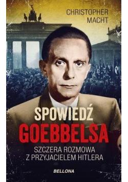 Spowiedź Goebbelsa (z autografem)