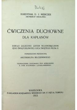 Ćwiczenia duchowne dla kapłanów 1913r