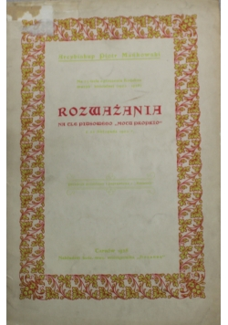 Rozważania na tle Piusowego motu proprio 1928 r.