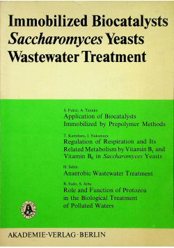Inmmbilized biocatalysts Saccharomyces yeasts