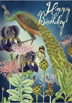 Karnet B6 z kopertą Urodziny Paw i motyl